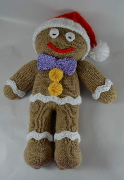 Gingerbread Man Knitting Pattern Christmas Crafts Pinterest