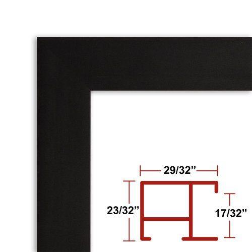 26 x 36 Black Poster Frame Profile: #97 Custom Size Picture Frame ...
