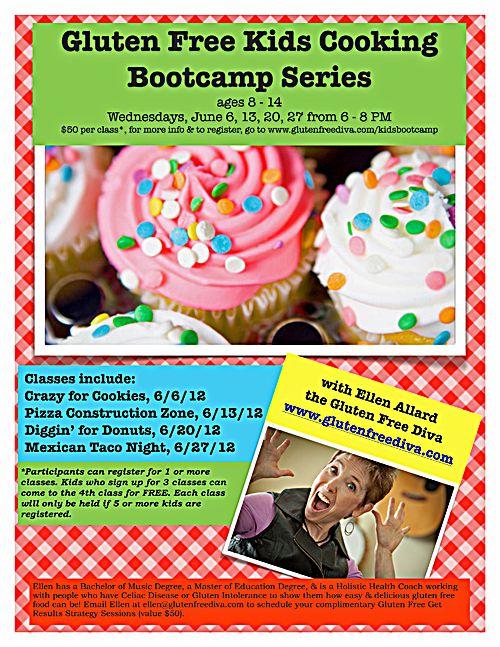 Gluten Free Kids Cooking Bootcamp Series Cooking With Kids Gluten Free Kids Cooking Classes For Kids