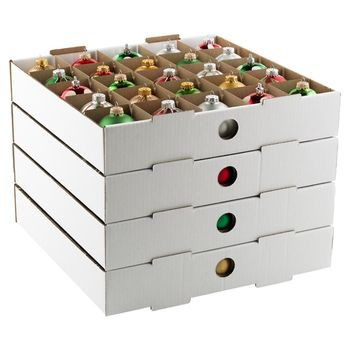 Ornament Storage Boxes  Trays in Holiday Storage 2012 from
