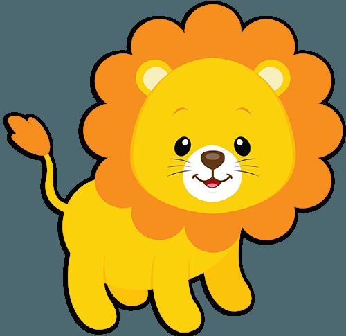 vinilos infantiles le u00f3n tom dibujitos pinterest baby shower jungle animals clipart baby jungle animals clipart free