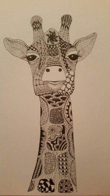 Kerry S Giraffe Zentangle Zentangle In 2019 Giraffe