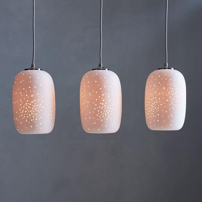 Pierced ceramic chandelier piercing chandeliers and dining buffet pierced ceramic chandelier aloadofball Images