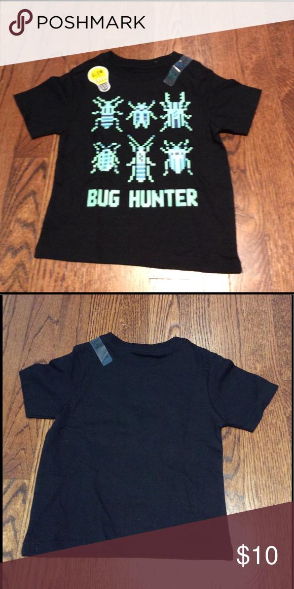 NWT Children's Place Glow in Dark Bug Hunter Top BRAND NEW
