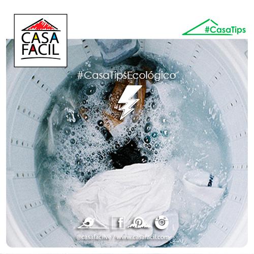 Lava la ropa con agua fría para ahorrar el consumo de energía.
