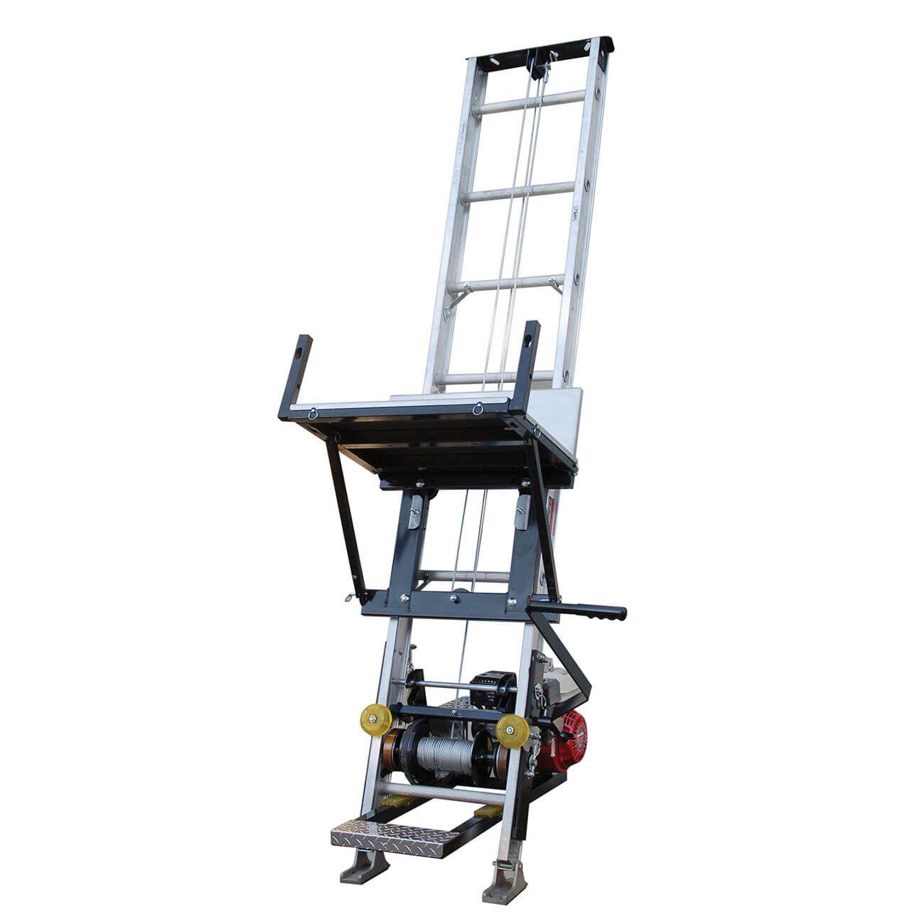 Tranzsporter Tp400 400lb 28ft Ladder Hoist Lifan Motor Aluminum Decking Hoist Ladder