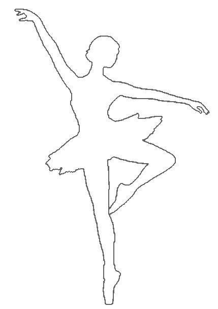résultat de recherche d images pour ballerina silhouette coloring