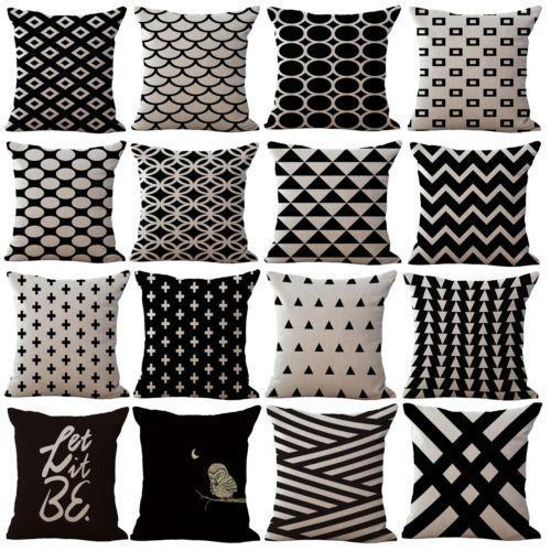 Geometric Pattern Cotton Linen Pillow