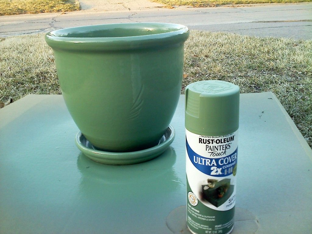 Tutorial Spray Paint A Flower Pot Painted Plant Pots