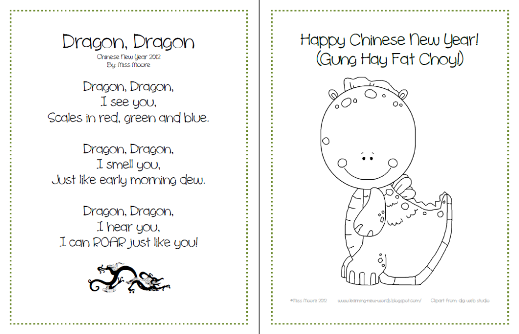 Learning New Words in ESL Kindergarten Chinese New Year