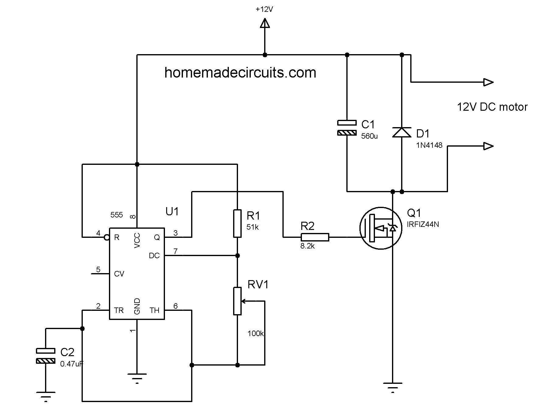 2 Lamp Flasher Using Mosfet Dc Motor Speed Controller Pulse Width Modulation Circuits Techno