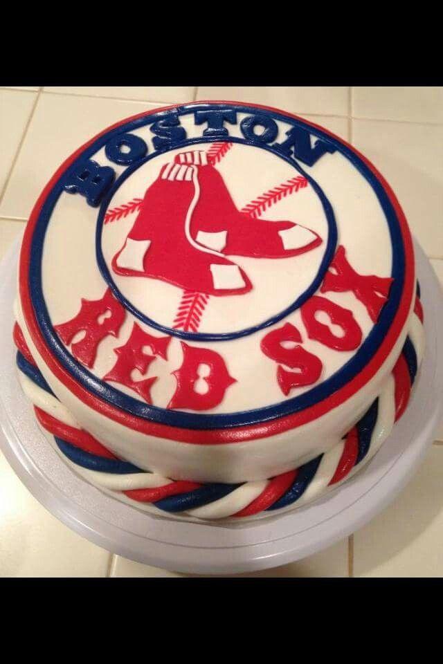 Boston Red Socks baseball cake