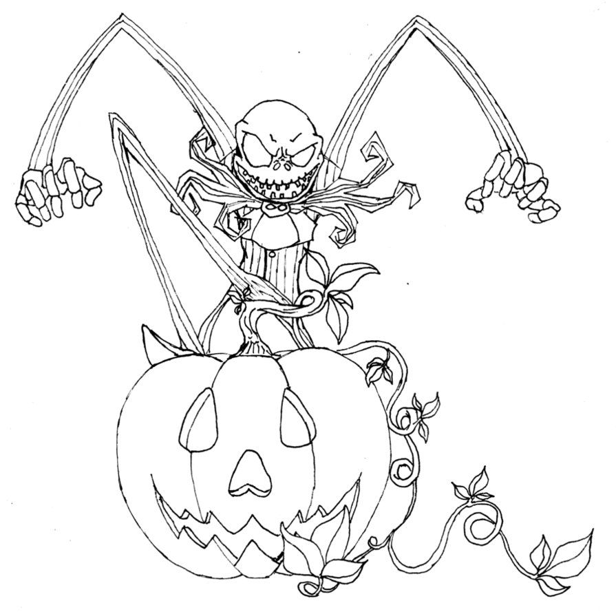 Free printable nightmare before christmas coloring pages best with