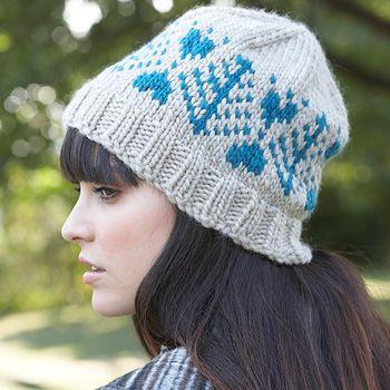Patons Classic Wool Roving - Blue Fir Hat (free knitting pattern ...