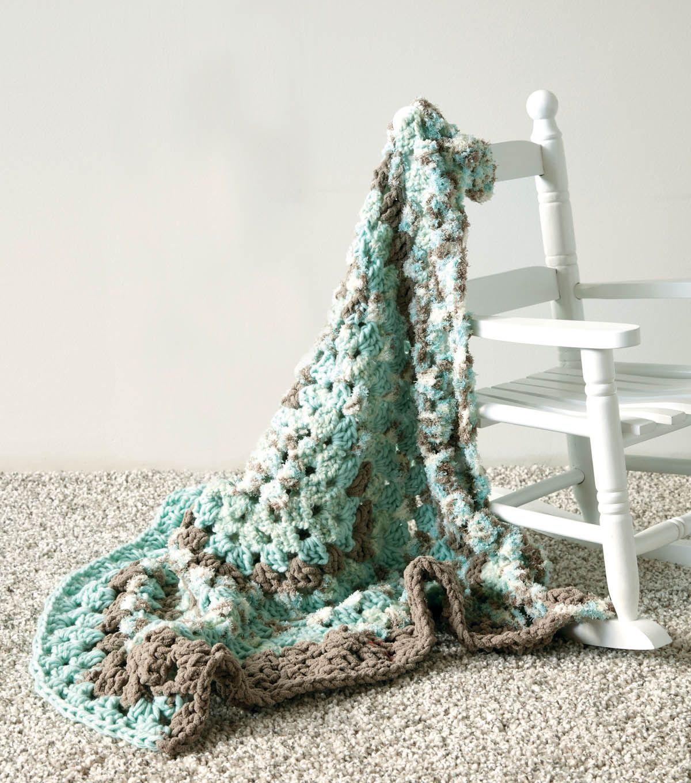 SPEEDY BABY BLANKET - Bernat® Baby Bundle™ Aqua Nest, 2 skeins Size ...