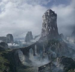 In the Song of Ice and Fire novels, the Eyrie is a mountain-top fortress located on a shoulder of the Giant's Lance, one of the tallest mountains on the continent. It is inhabited by the Arryns during the long springs and summers, before the family removes to the Gates of the Moon at the bottom of the mountain to sit out the winters. The Eyrie is only a small castle itself, but is almost impossible to reach. An invading army would have to overcome the Bloody Gate at the mouth of the Vale…