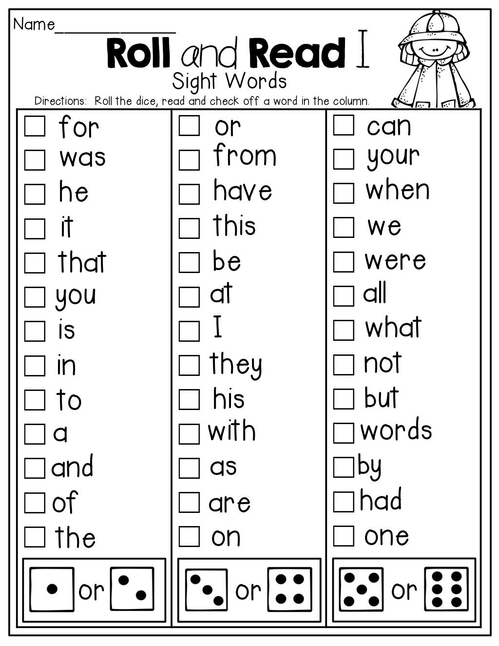 4 Worksheet Vocabulary Cards Dancing Directions Roll And