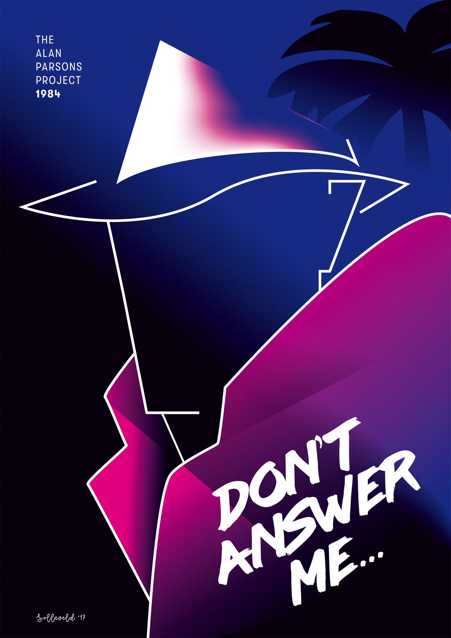 Don T Answer Me 80s Poster Design Digital Art Illustration 80s