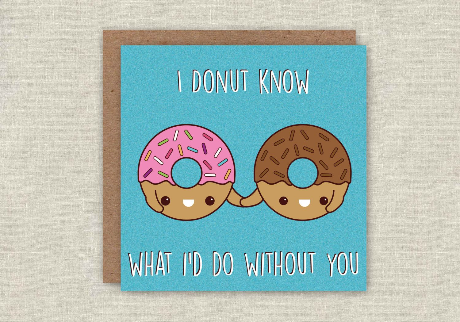 Mothers Day Card Donut Greeting Card Valentine Doughnut Card Blank ...