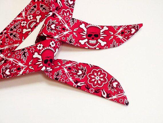 Neck Cooler Bandana Skull Crossbones Red Bandana Cooling Scarf Gel Stay Cool Tie Body Head Heat Relief Biker Headband Neck Coolers Cool Bandanas Headband Wrap