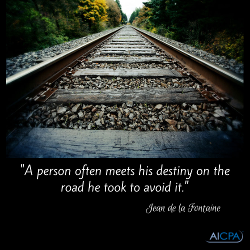 A Person Often Meets His Destiny On The Road He Took To Avoid It