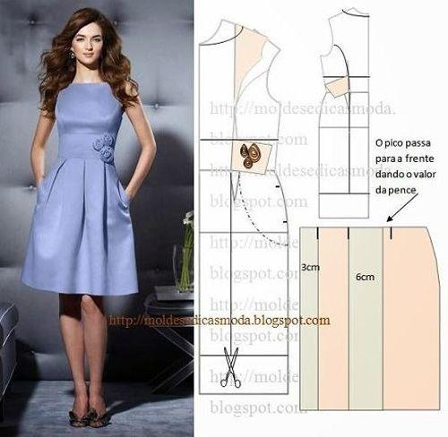 Como hacer un molde para vestido de mujer