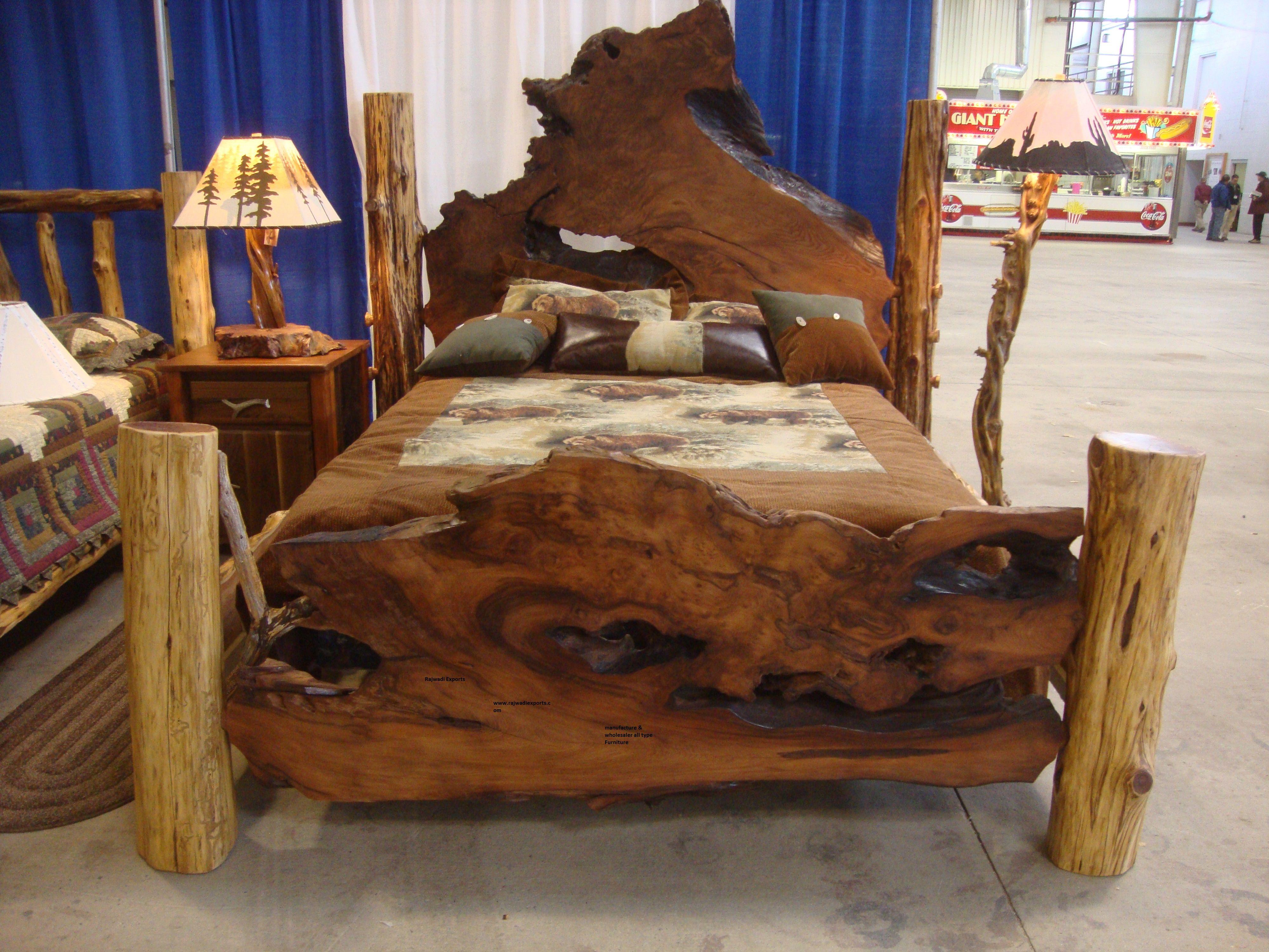 Wooden Antique Design Cabine Box And Natural Beds Rajwadi Exports - Black rustic bedroom furniture