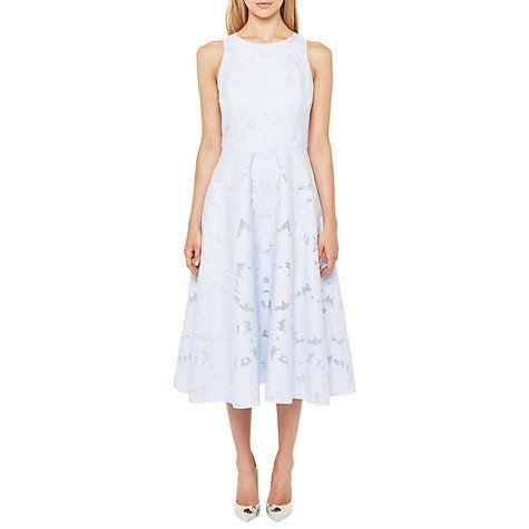 Buy Ted Baker Roshi Burnout Jacquard Midi Dress, Powder Blue Online at  johnlewis.com