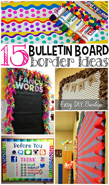 Innovative Classroom Rules ~ Creative bulletin board borders for the classroom crafty