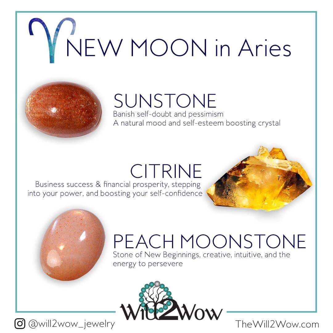 Crystal for the full moon in Aries Full