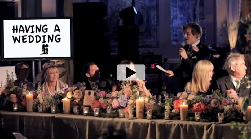 Tom Fletcher's Amazing Wedding Speech cute
