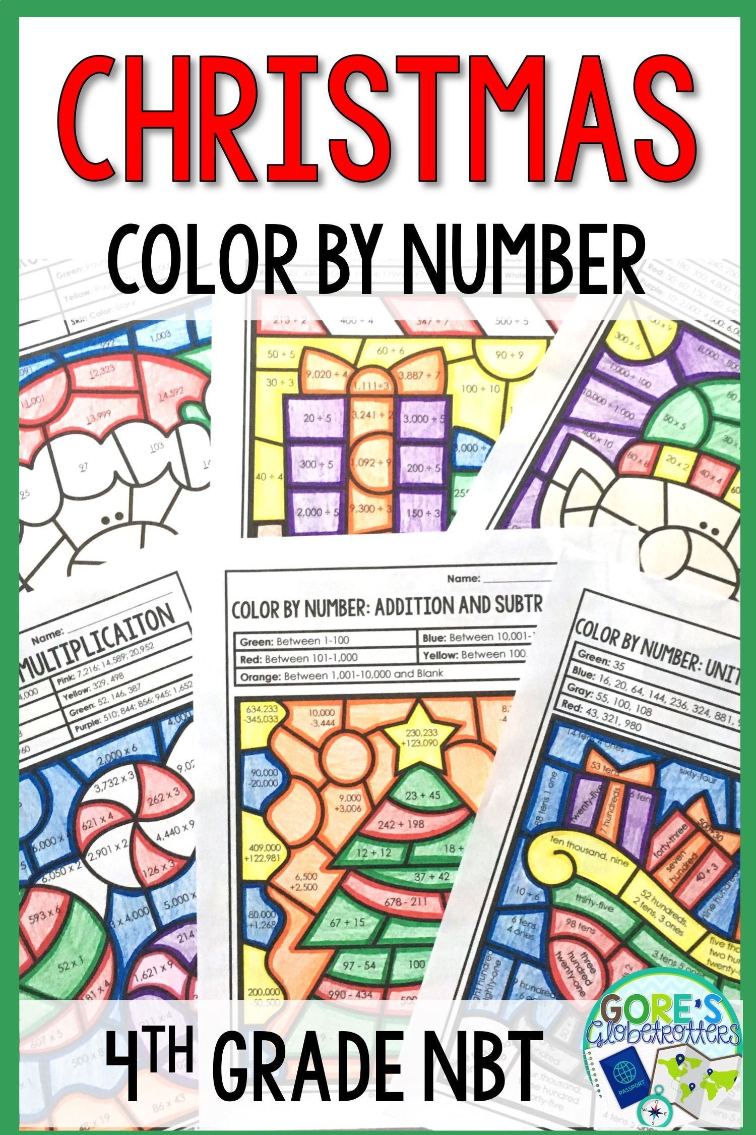Christmas Math Worksheets Color By Number 4th Grade Christmas Math Christmas Math Worksheets Christmas Math Activities [ 2250 x 1500 Pixel ]