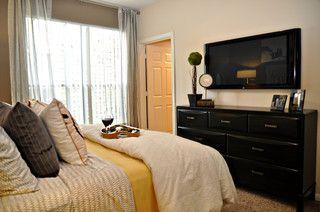 TV on wall over dresser in Bedroom Redecorate bedroom