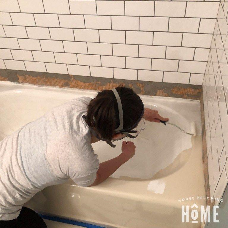 How To Paint A Bathtub In 2020 With Images Diy Bathtub Bathtub Bathtub Makeover