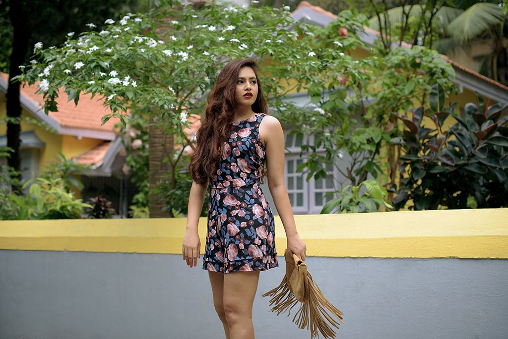 |Aayushi Bangur| Blogger| Fall| Fashion| Floral| Fringe| Jumpsuit| Love| Only| Outfit| Ootd| Pastel| Steve Madden| Style| Trend| Winter| Styledrive| Suede| Winter| Tumblr| India|