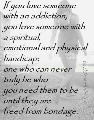 can an addict really love you