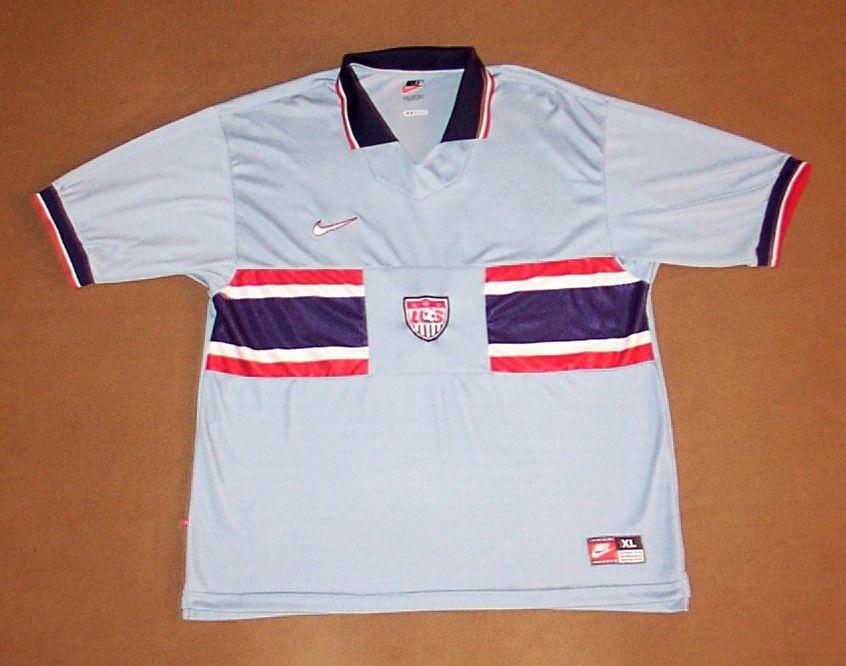Vintage Team Usa Soccer Jersey X Large Nike Football 1995 Rare