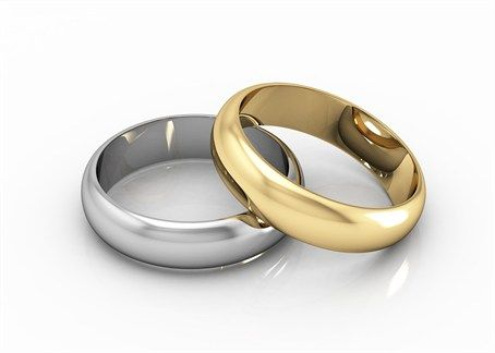 Superbe Gold And Silver Wedding Bands