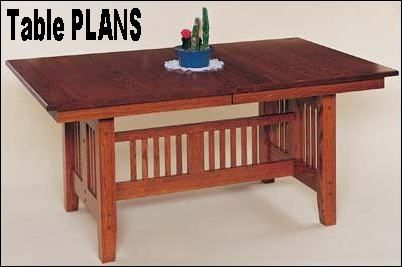 Woodwork Mission Style Dining Table Plans PDF Plans