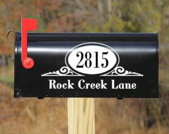 Mailbox Vinyl Lettering wall words quotes graphics decals Art Home