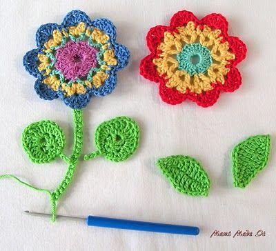 Crochet Flowers And No Chain Crochet Häkelblume Und Häkeln Ohne