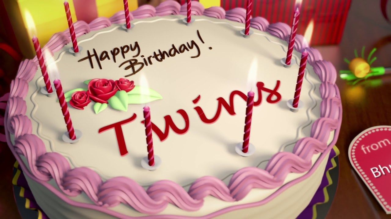 27 Marvelous Picture Of Happy Birthday Twins Cake Birijus Com Happy Birthday Cake Pictures Birthday Cake Pictures Happy Birthday Cakes