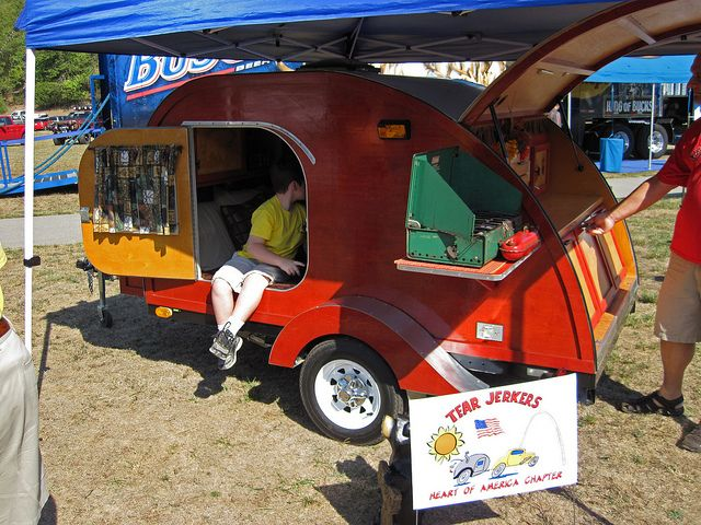 Tear Drop camper from the Tear Jerkers club  | teardrop camper ideas