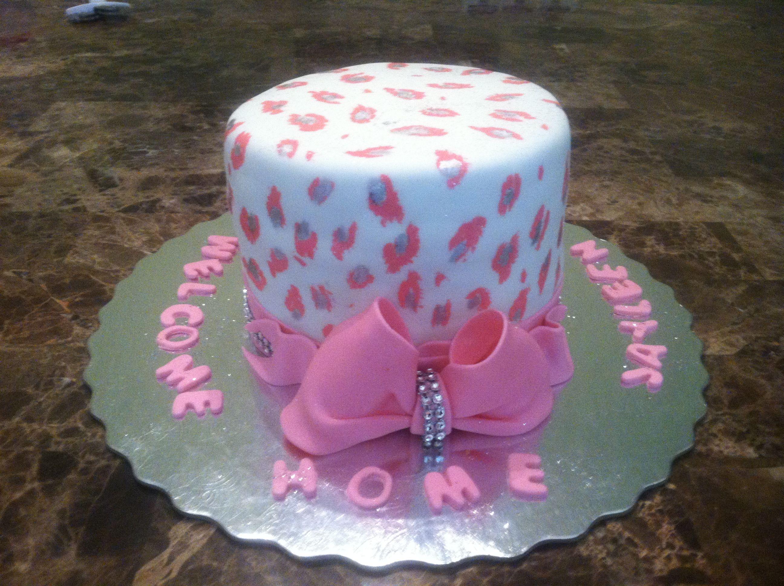 Wel e home baby cake Cakes Pinterest