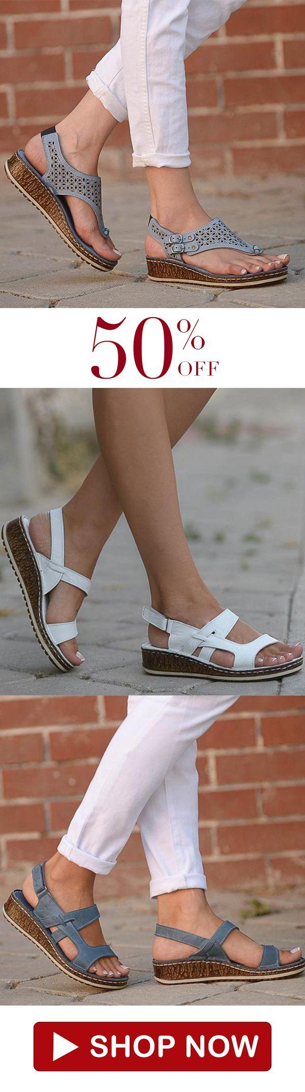 e27747d12 Women Casual Summer Wedge Sandals | Sandals in 2019 | Summer wedges ...