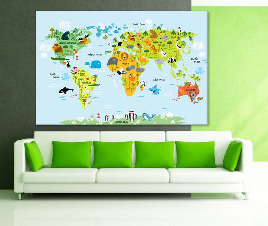 Kids world map nursery world map children push pin map extra large kids world map nursery world map children push pin map extra large world map large map childrens world map kids world map canvas travel map gumiabroncs Image collections