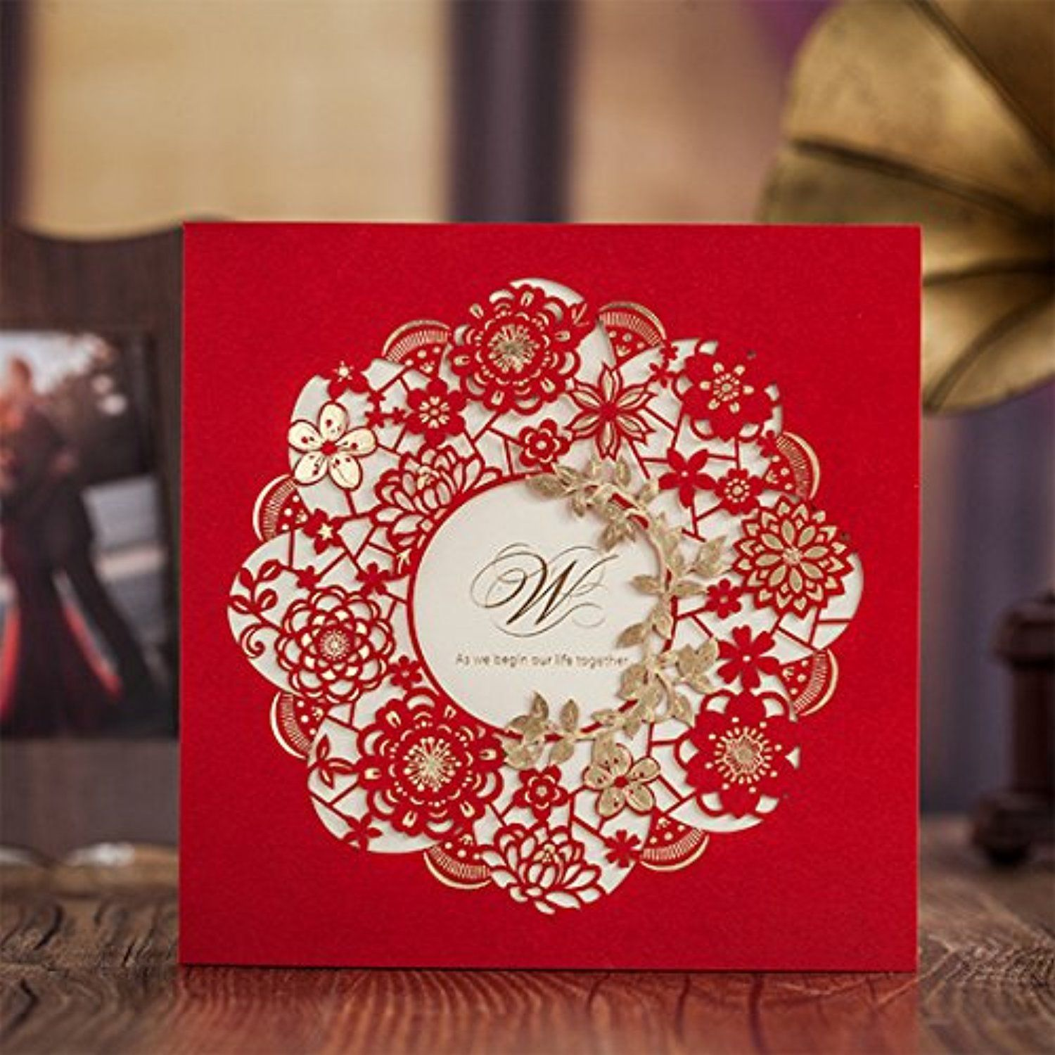 YUFENG 24PCS Laser Cut Hollow Out Wedding Invitations Cards Kit for ...