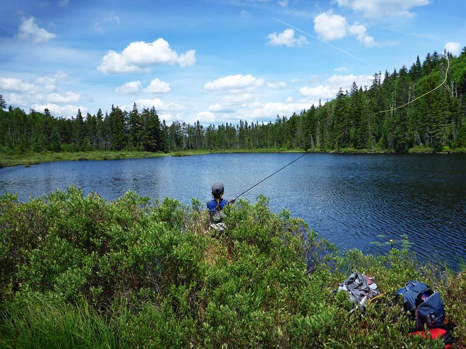 Nina fishing at unknown pond pittsburg nh lopstick for New hampshire fishing