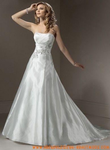 Schlichtes Brautkleid 2012 Bestverkauft aus Satin A-Linie mit ...