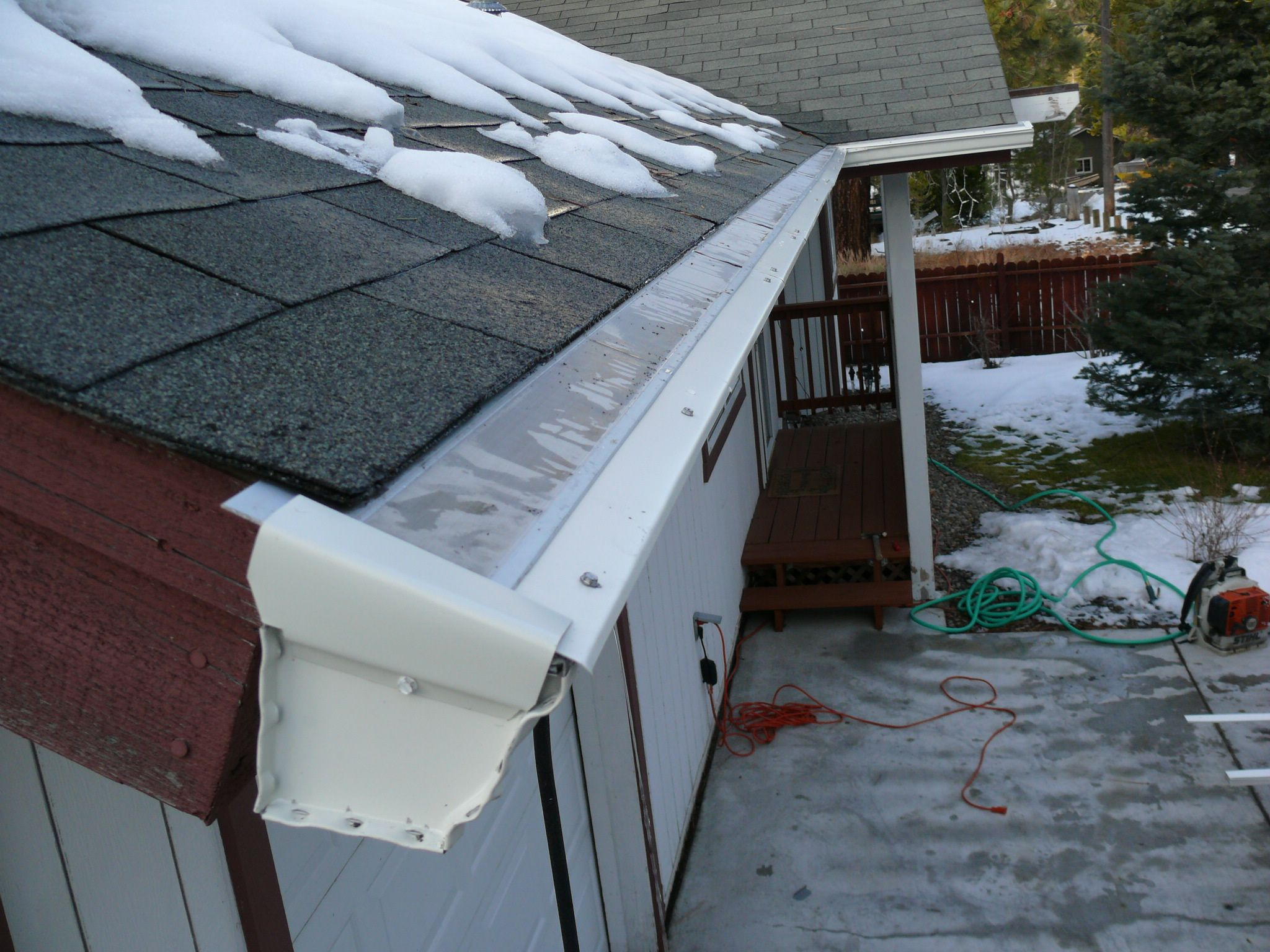 No More Gutters Being Ripped Off Your Home From Sliding Snow And Ice Off Your Roof Icebreaker Is Like A Ski Jump An Rain Water Collection Gutters Gutter Guard